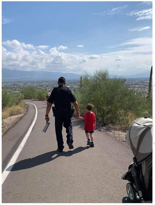 Officer Andrew Valenzuela and Liam