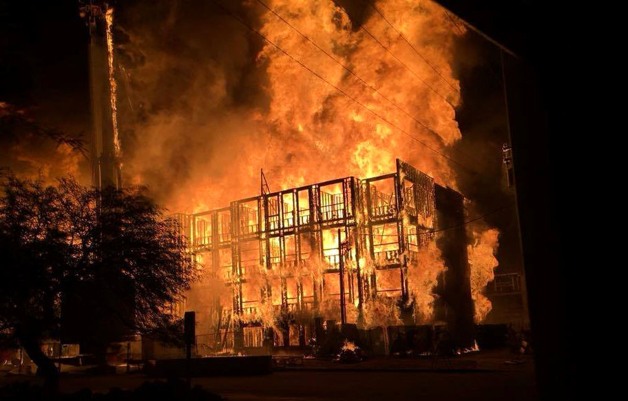 Two-alarm fire
