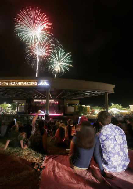 Fireworks at AVA Amphitheater