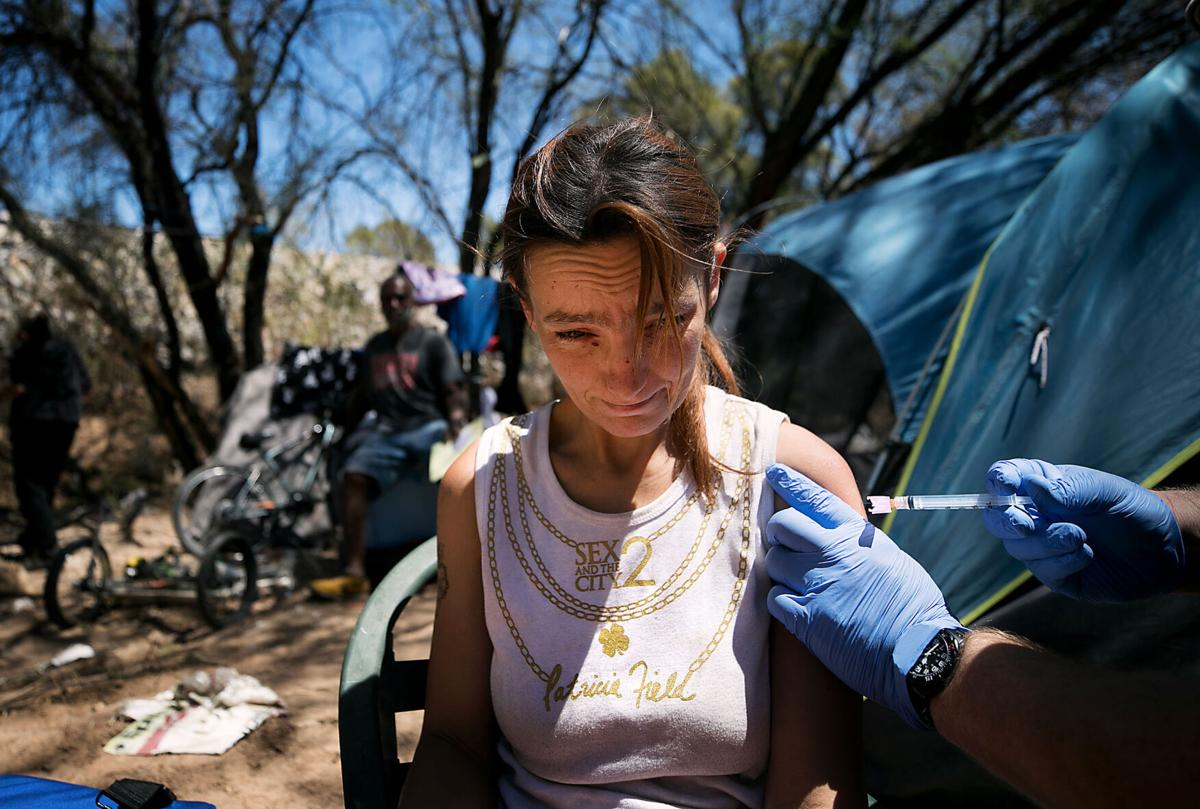 COVID-19 vaccinations, homeless, clinics