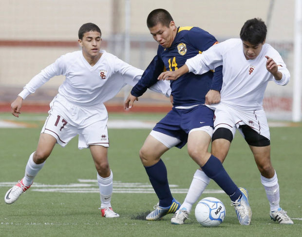 High school boys soccer state championship: Salpointe 2, Glendale Apollo 0: Gritty Lancers claim 2nd straight crown