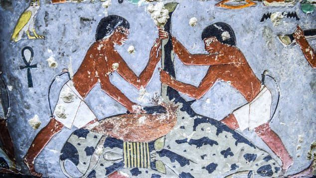 Ancient tomb painting