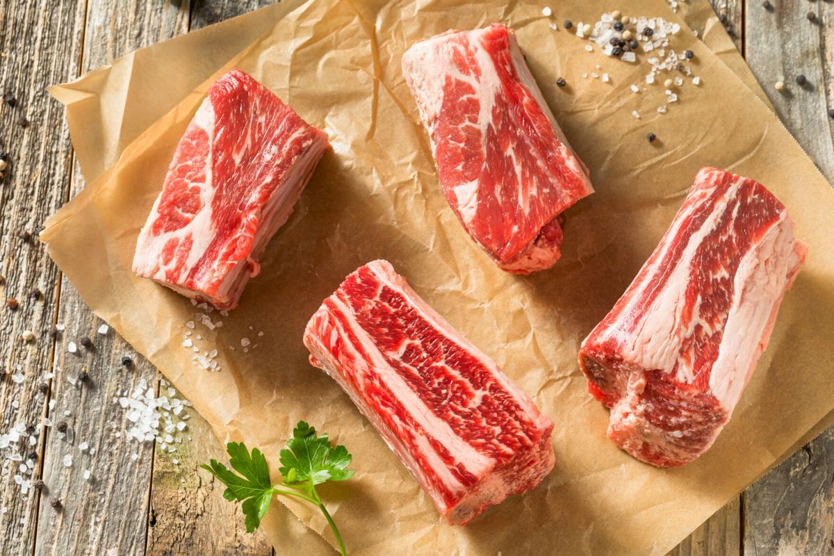 Raw Organic Beef Short Ribs