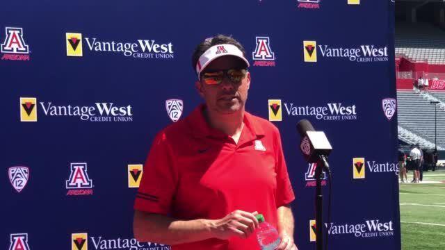 Watch Now: Jedd Fisch says Arizona's offense has been 'taking strides' in spring ball