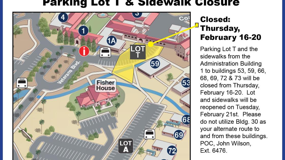 Tucson VA parking lot, sidewalk closures start Thursday