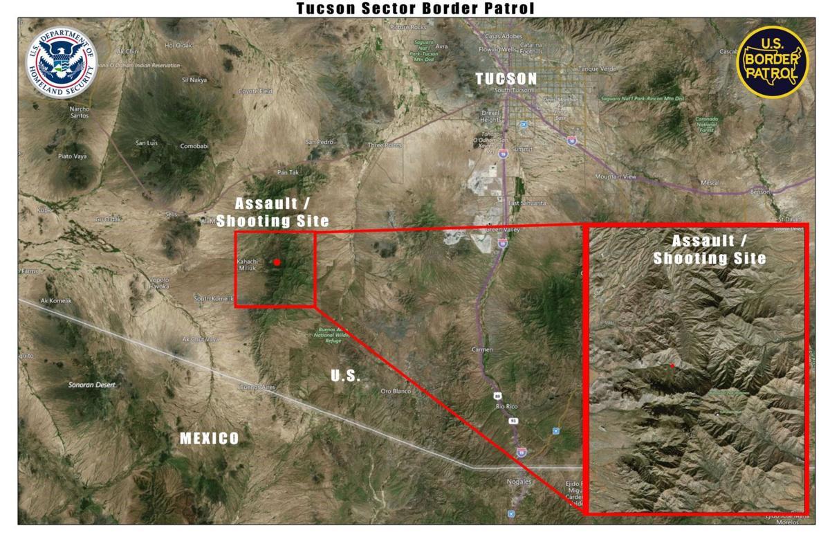 Map of Nov. 29, 2017 Border Patrol shooting