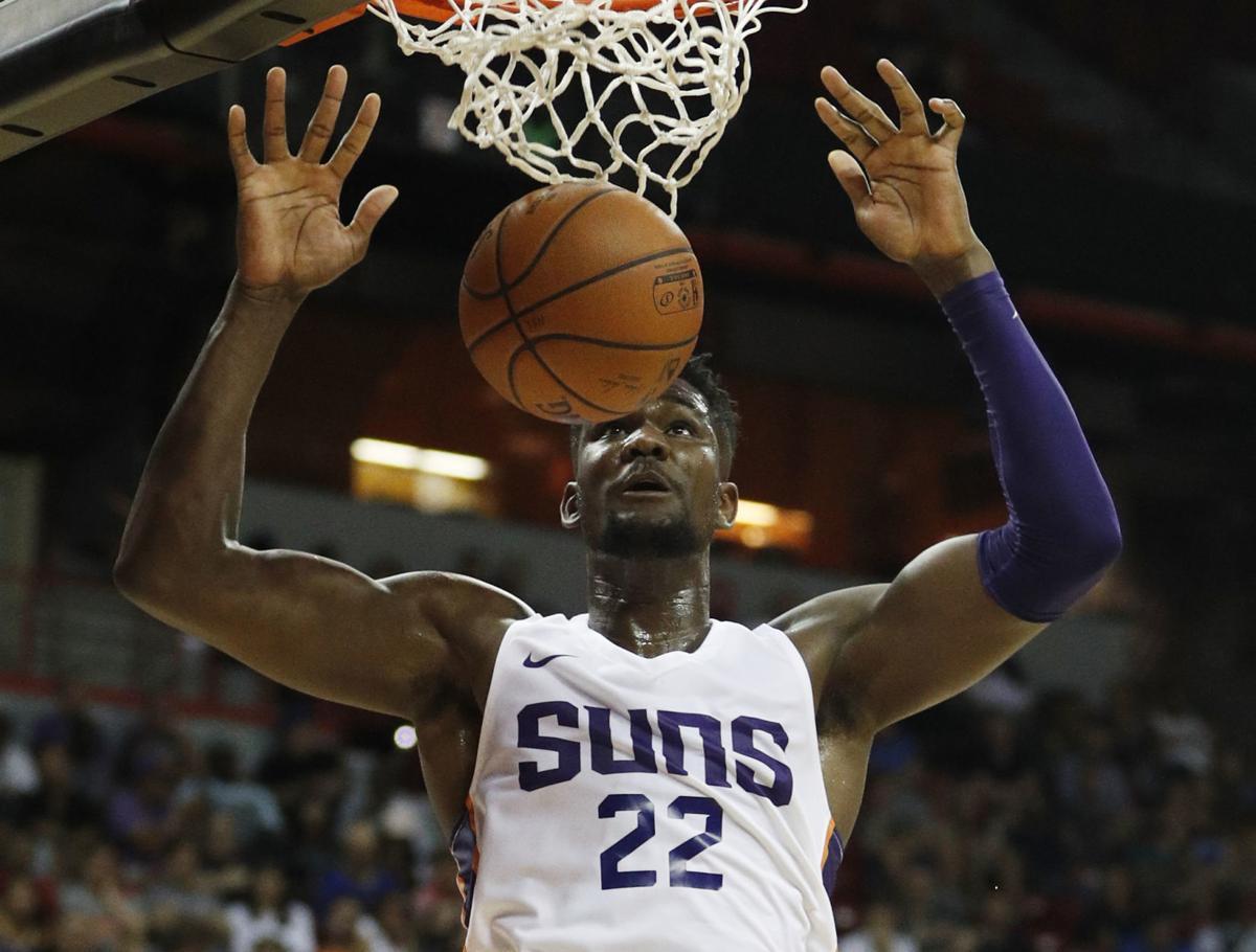 5072dcf7f95 Mavericks Suns Basketball. Deandre Ayton ...