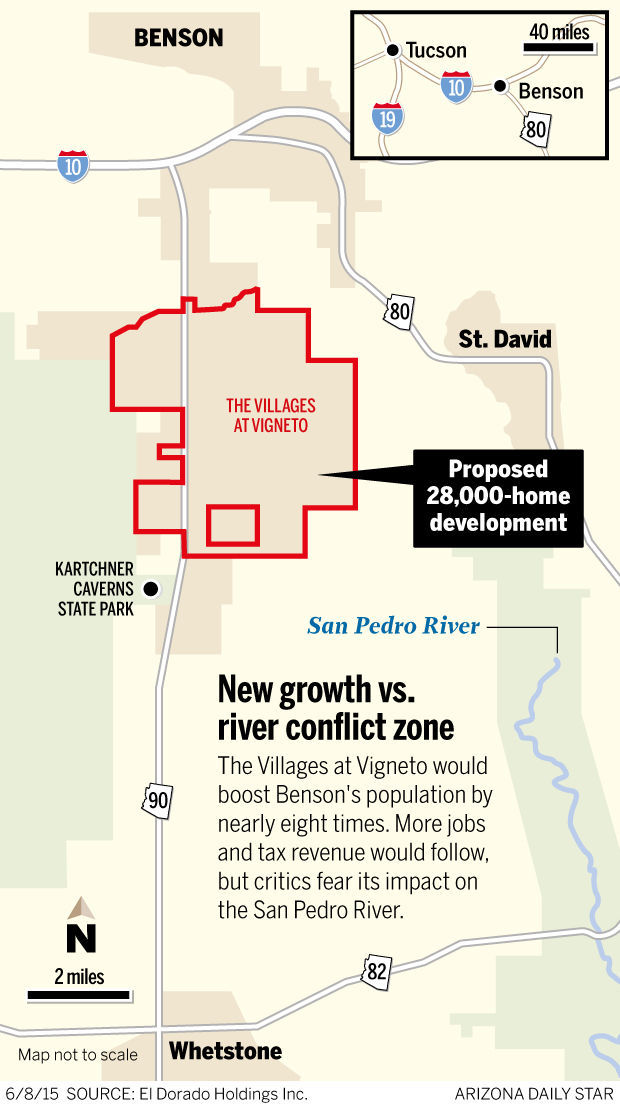 New growth vs. river conflict zone