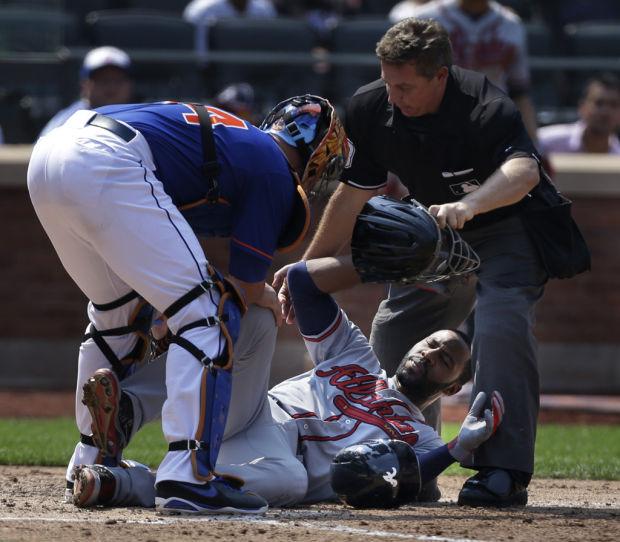 Game of the day: Braves 4, Mets 1: Heyward's broken jaw spoils Atlanta victory