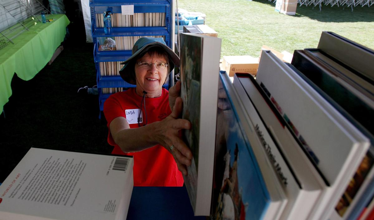 Set-up for 2018 Tucson Festival of Books