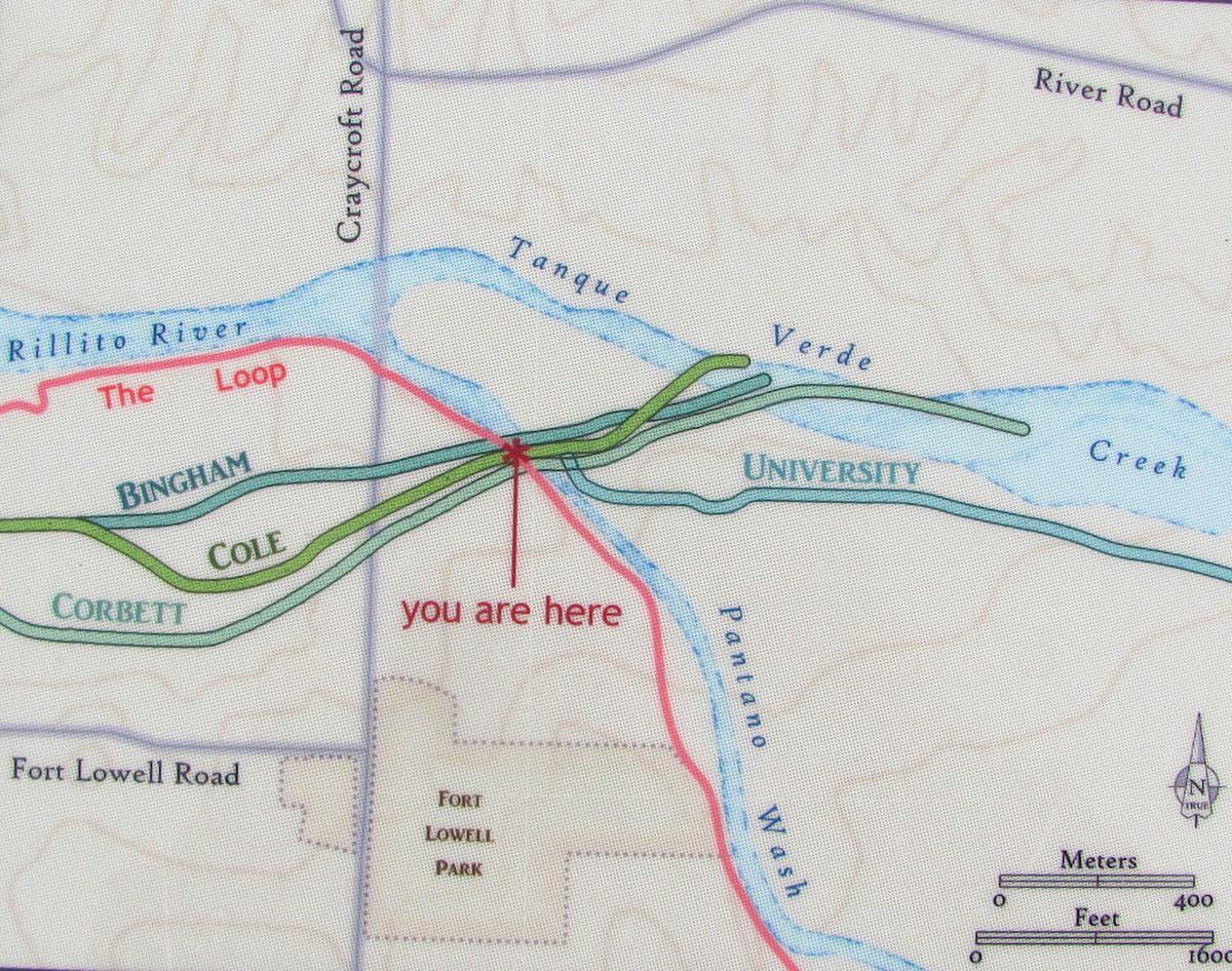 Map along trail