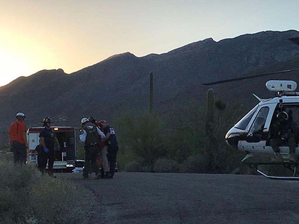 Sabino Canyon hiker rescue