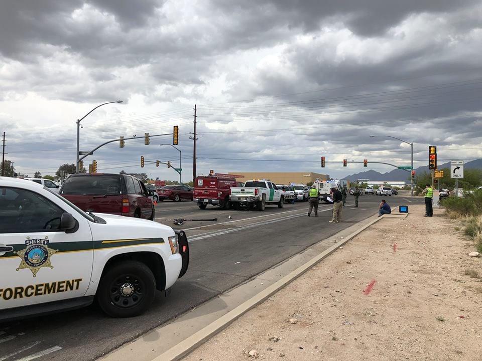 Border Patrol involved crash