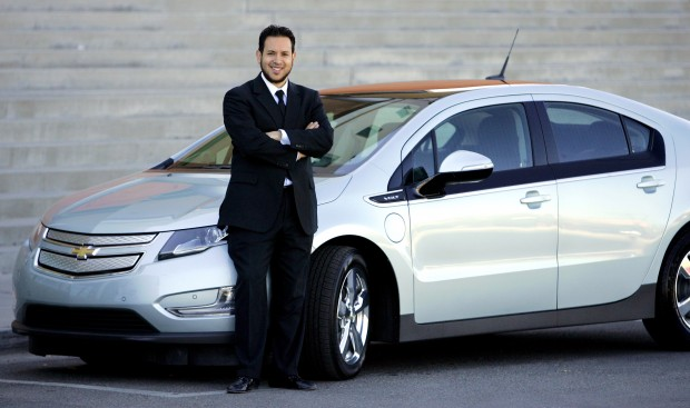 Local man travels far, gets a charge from his new Volt