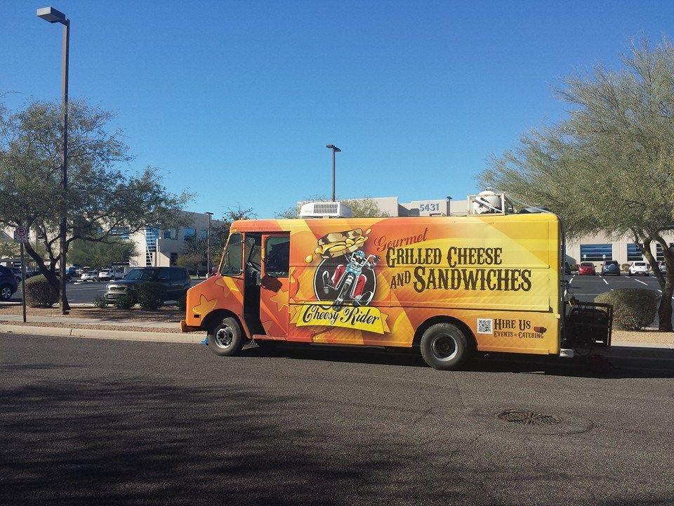 Cheesy Rider Food Truck Menu