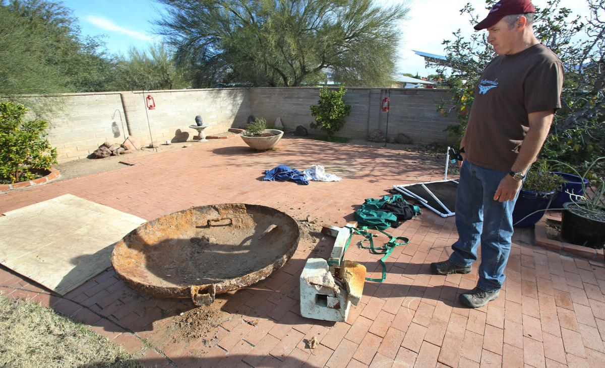 Backyard Fallout Shelter a real digger-upper: tucson man finds bomb shelter in backyard