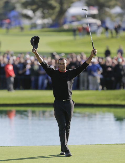 GOLF: Woods wins at Torrey Pines despite painfully slow finish