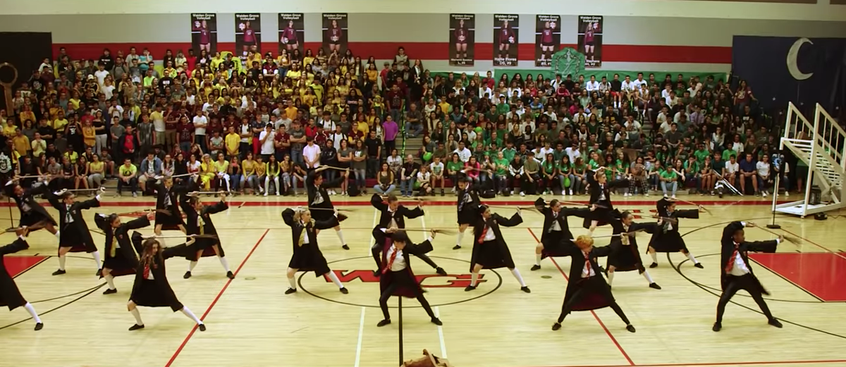 Harry Potter dance routine at Walden Grove