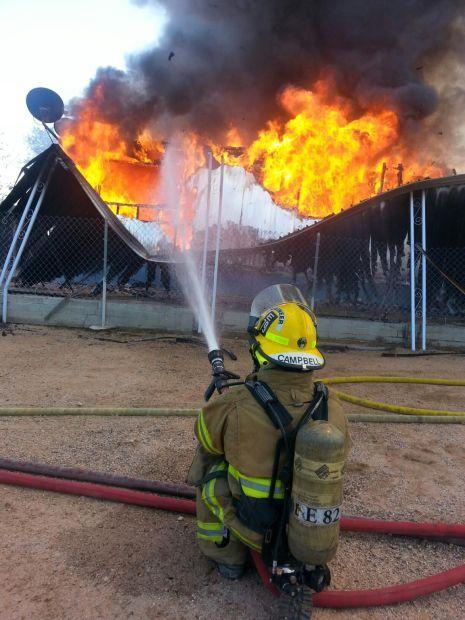 Sahuarita mobile home fire