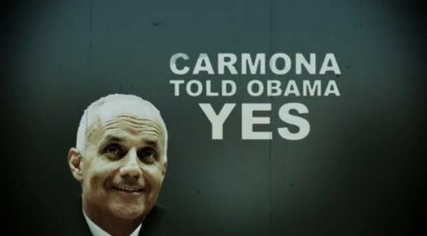 Flake keeps trying to link Carmona to Obama