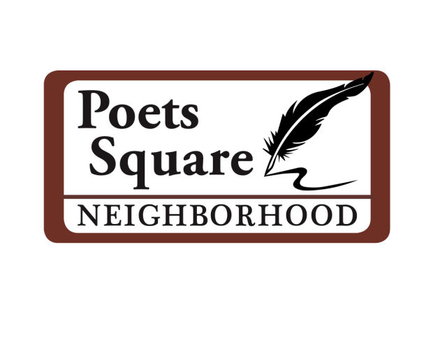 Poets Square Sign