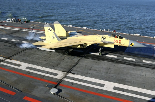 China successfully launches, returns fighter jet to carrier
