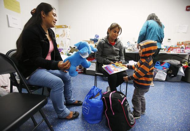 Guatemalan migrants at Greyhound Lines