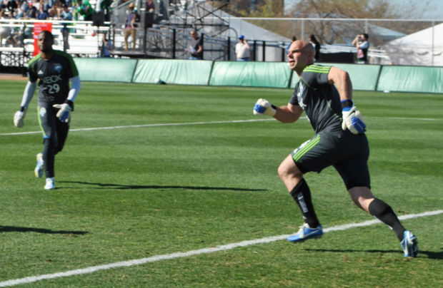 MLS soccer: Sounders' contented sub at goalkeeper