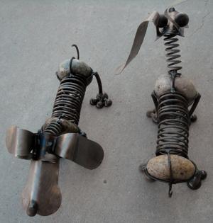lawn art rock dogs.JPG