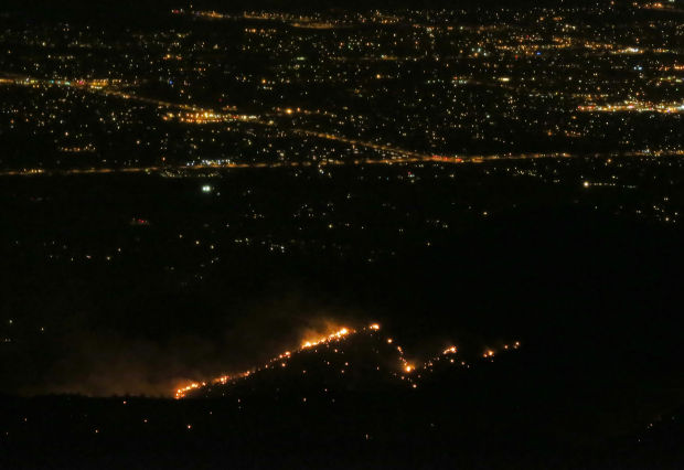 Fire on Mount Lemmon
