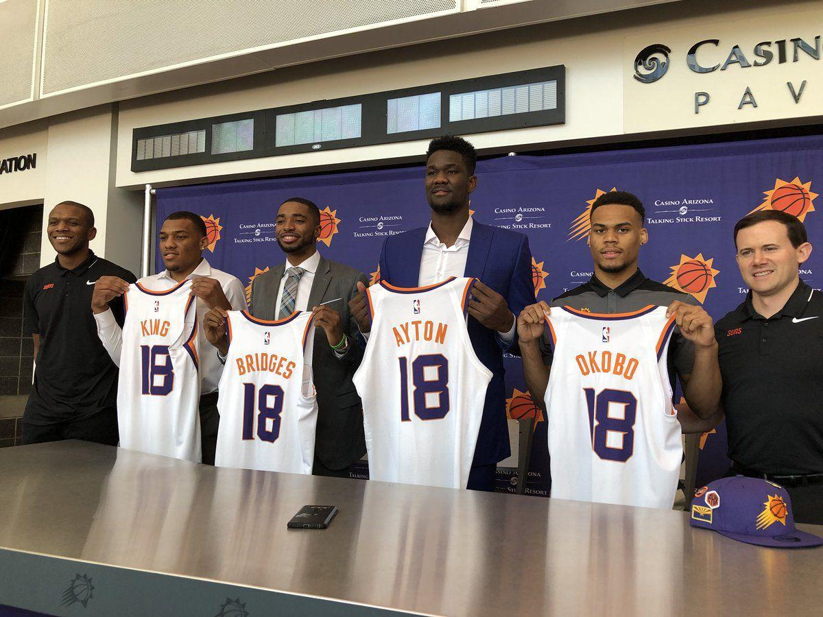 ced9765ab1ab Watch  9 best things said at Deandre Ayton s Phoenix Suns introduction