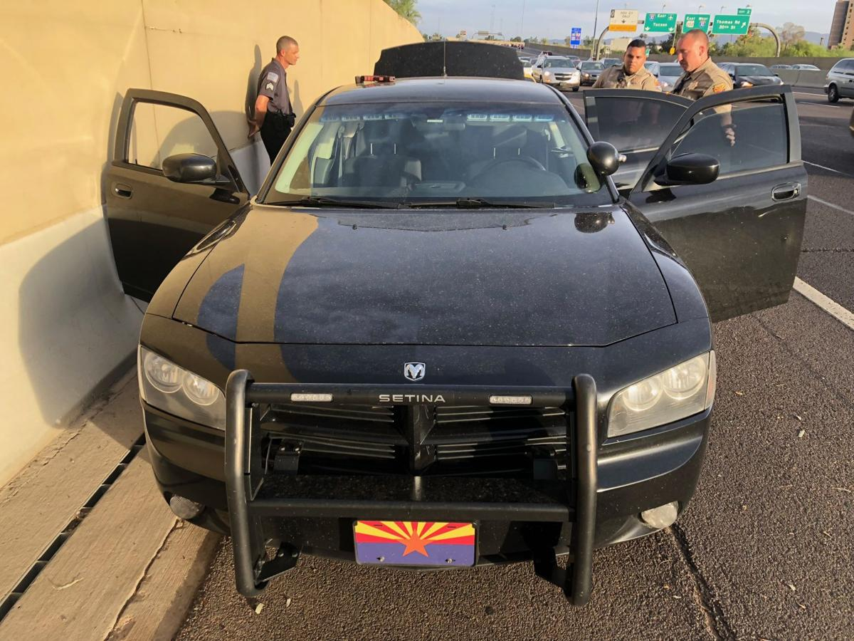 Fake cop arrested after trying to pull over real Arizona troopers
