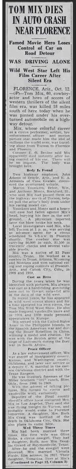 PDF: Tom Mix dies in auto crash near Florence