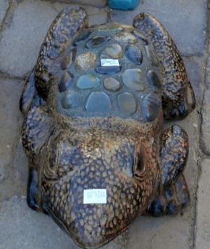 lawn art rock frog.JPG