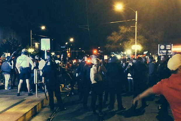 Rowdy crowds near UA after Sweet 16 victory over San Diego State