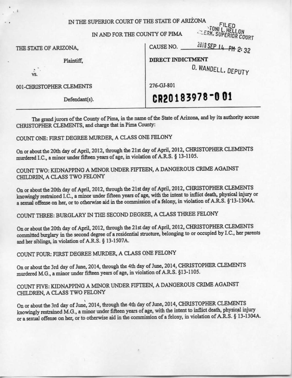 Indictment of Christopher Matthew Clements