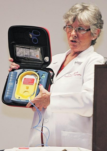 Family donates defibrillators to 19 area schools