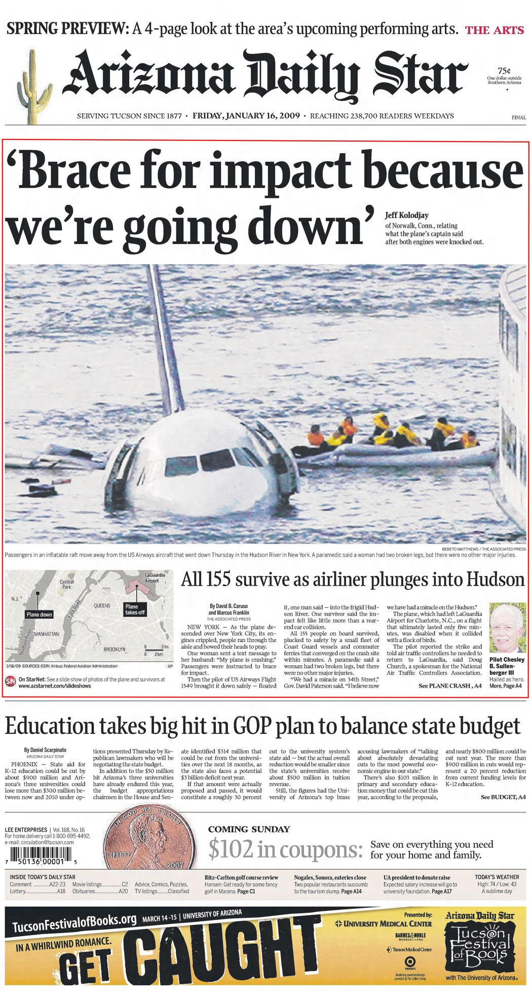 Jan. 16, 2009: Miracle on the Hudson