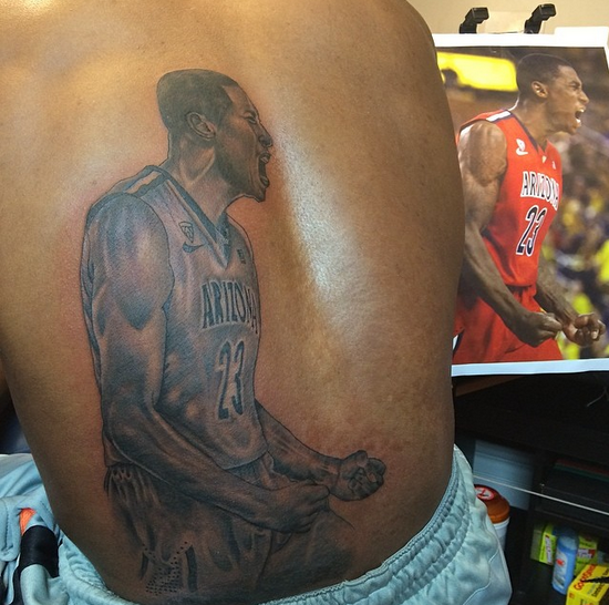 Hollis-Jefferson's tattoo