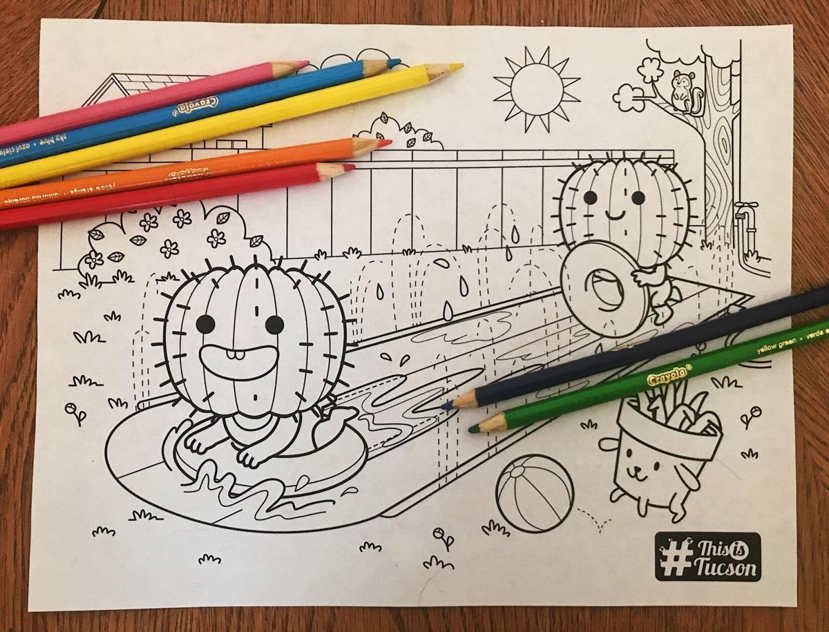 Slip N' Slide coloring page