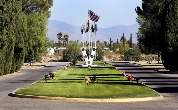 Tucson Oddity: Cemetery's 'Veteran Islands' honor US military service
