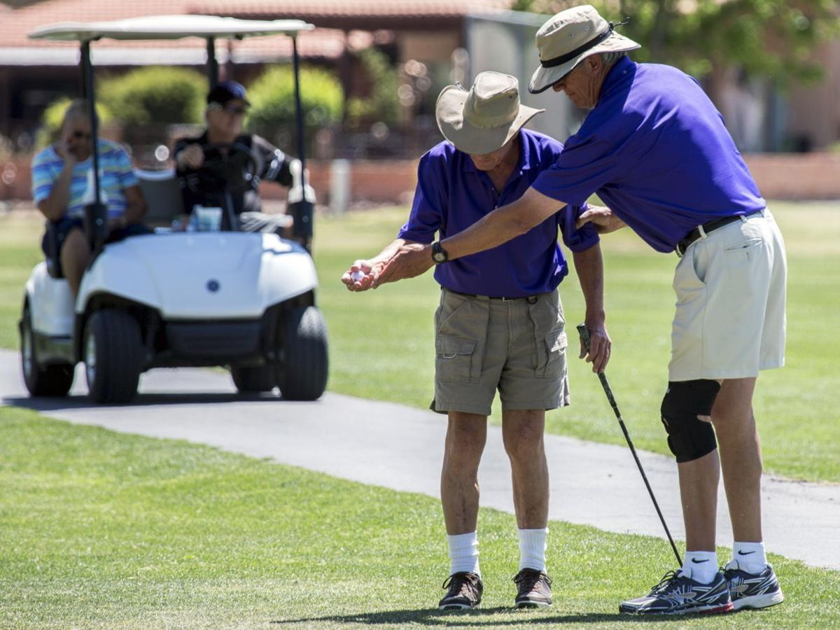 Blindness no handicap for these golfers | Golf | tucson.com on green shopping cart, used ez go electric cart, green volleyball cart, green go cart, green club cart, green golf karts,