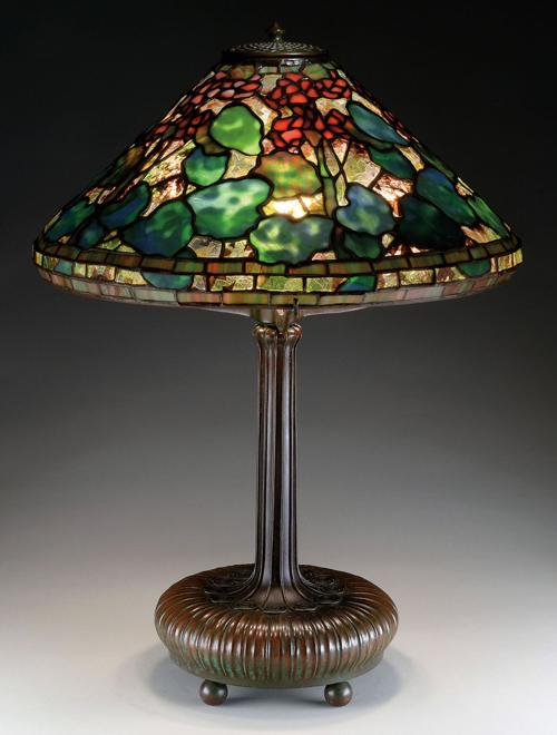 Tiffany studios lamp shade drives sale price at james d julia lamp mozeypictures Choice Image