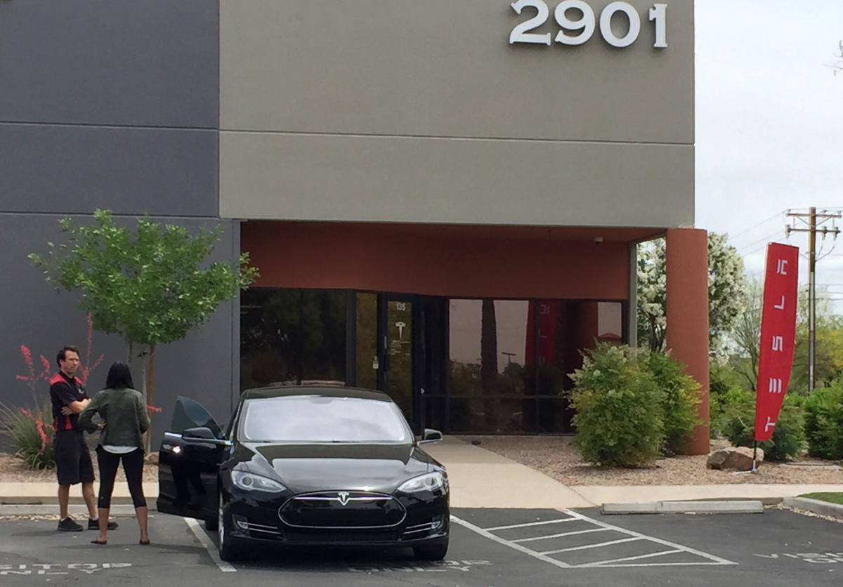 Electric car maker Tesla opens service center near Tucson airport