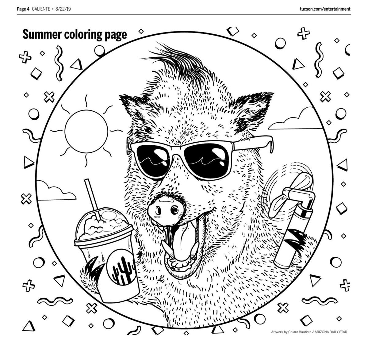 Aug. 22 coloring page