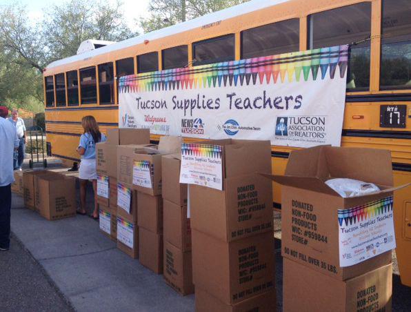 Tucson Supplies Teachers School Supplies Drive