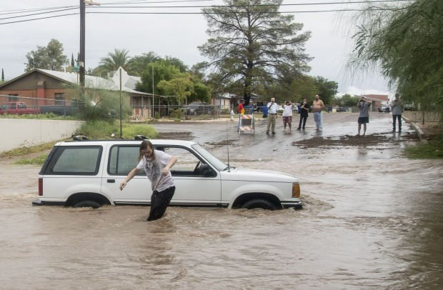 Flooding in Tucson