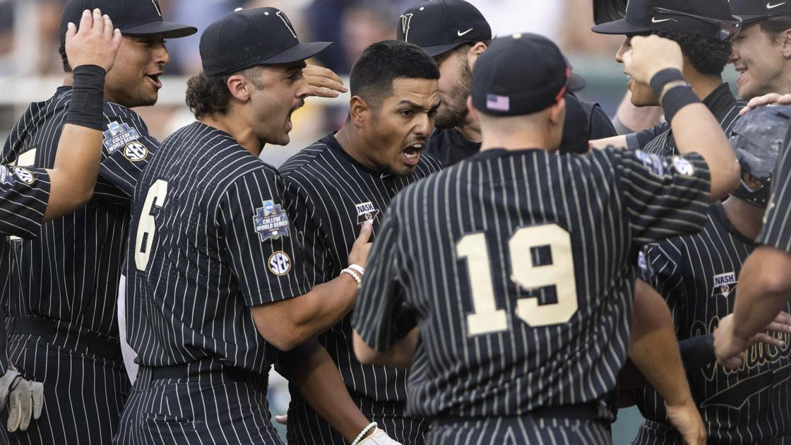 Vandy outlasts Arizona in 12 innings, knocks Cats into College World Series losers' bracket