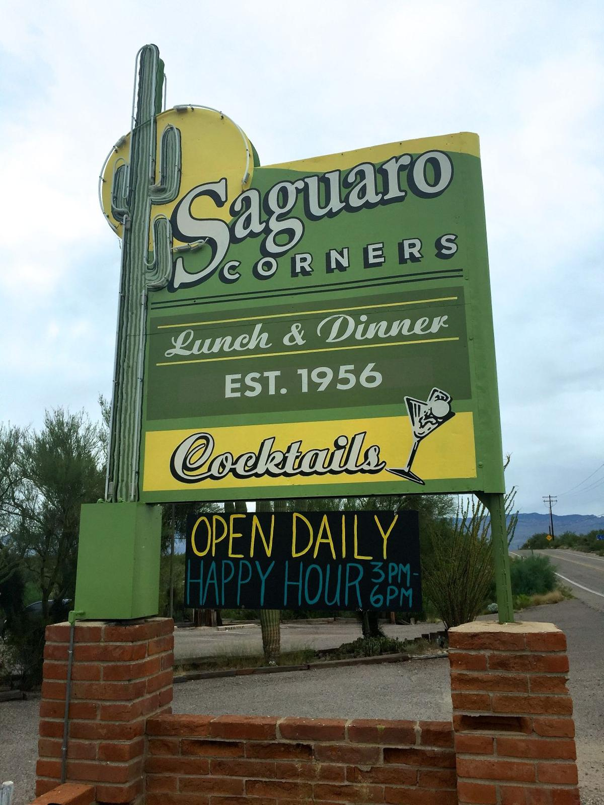 Take a ride tucson saguaro corners sign aiddatafo Image collections