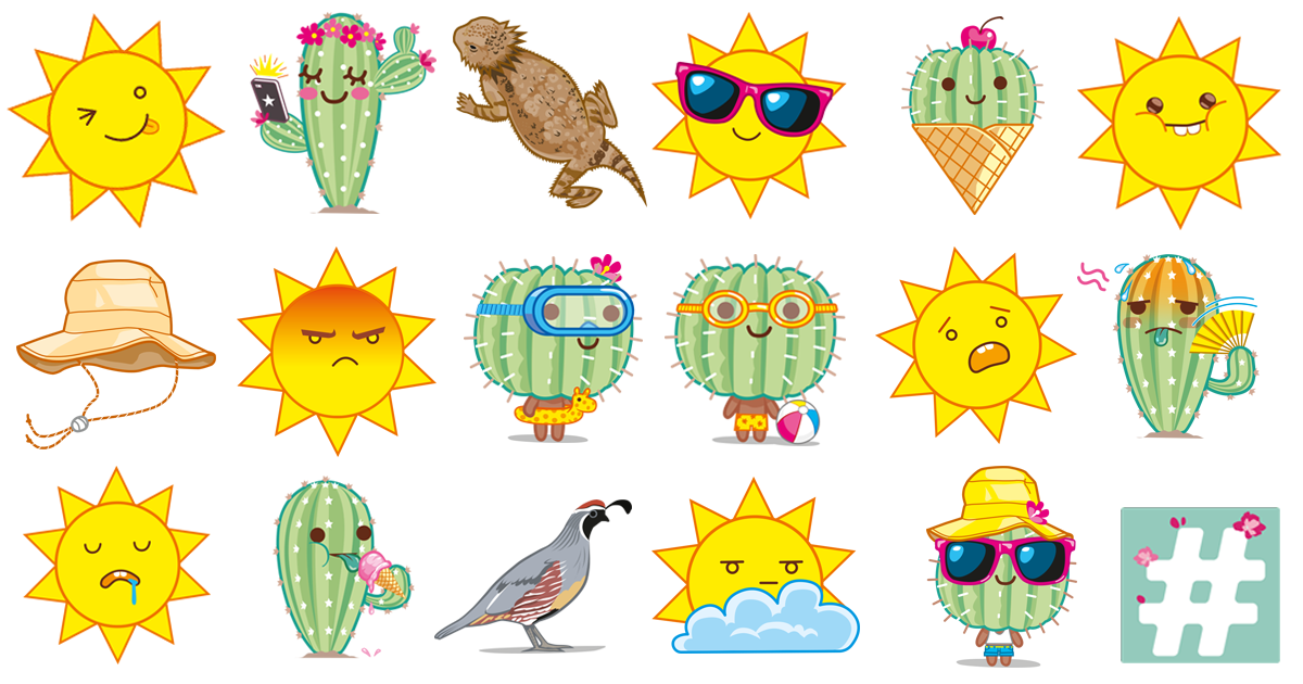 This Is Tucson summer stickers